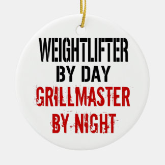 Weightlifter Grillmaster Ceramic Ornament