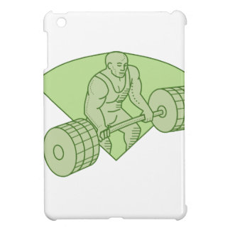 Weightlifter Lifting Barbell Mono Line Cover For The iPad Mini
