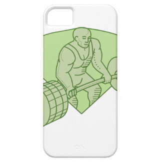 Weightlifter Lifting Barbell Mono Line iPhone 5 Covers