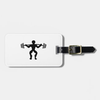 Weightlifter Lifting Weights Luggage Tag