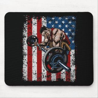 Weightlifter Preacher Curl Gym Mouse Pad