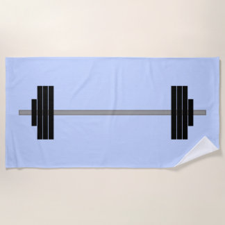 Weightlifting Barbell Beach Towel