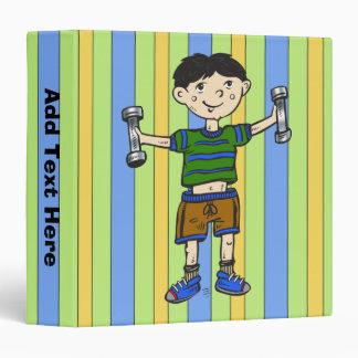 Weightlifting Boy Vinyl Binders