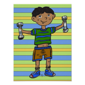 Weightlifting Boy Poster