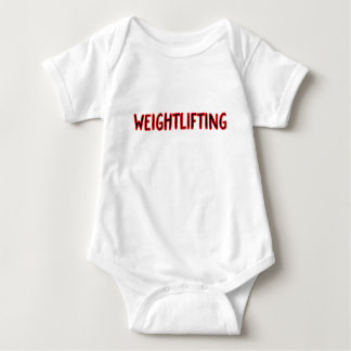 Weightlifting Design Baby Bodysuit