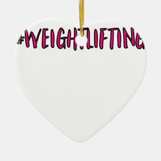 Weightlifting Design Ceramic Ornament