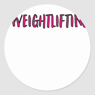 Weightlifting Design Classic Round Sticker