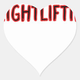 Weightlifting Design Heart Sticker