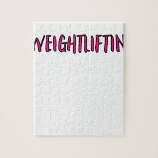 Weightlifting Design Jigsaw Puzzle