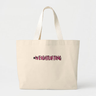 Weightlifting Design Large Tote Bag