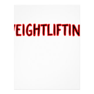 Weightlifting Design Letterhead