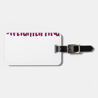 Weightlifting Design Luggage Tag