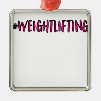 Weightlifting Design Metal Ornament