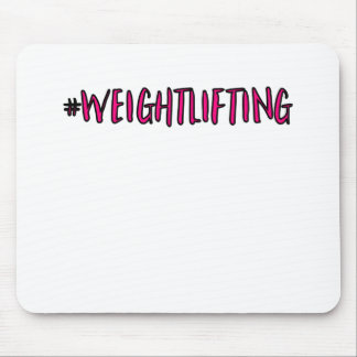 Weightlifting Design Mouse Pad