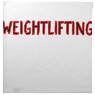 Weightlifting Design Napkin
