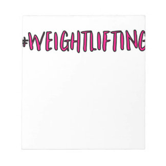 Weightlifting Design Notepad