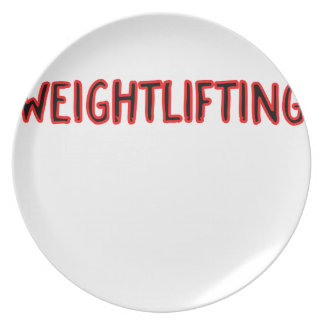Weightlifting Design Plate