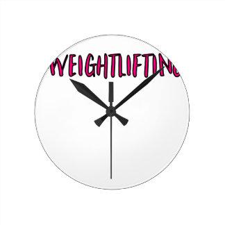 Weightlifting Design Round Clock