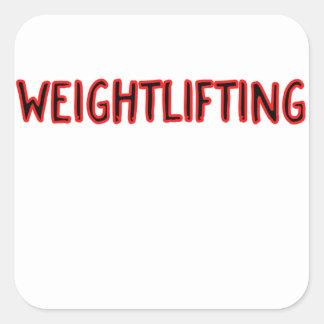 Weightlifting Design Square Sticker