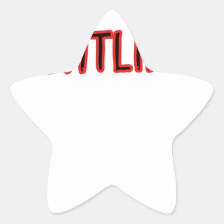 Weightlifting Design Star Sticker