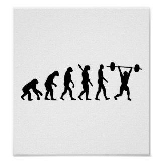 Weightlifting evolution poster