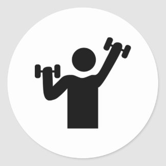 Weightlifting Exercise Classic Round Sticker