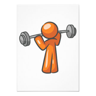 Weightlifting  Greeting Cards