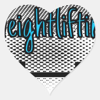 Weightlifting Heart Sticker
