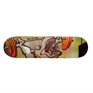 Weightlifting Hippopotamus Skateboard Decks