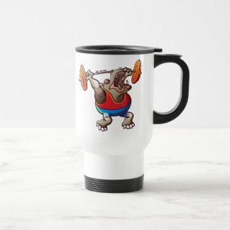 Weightlifting Hippopotamus Travel Mug