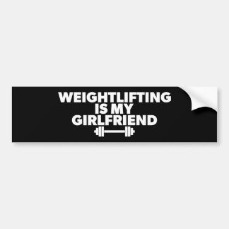 Weightlifting Is My Girlfriend - Funny Workout Bumper Sticker