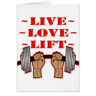 Weightlifting Live Love Lift Card
