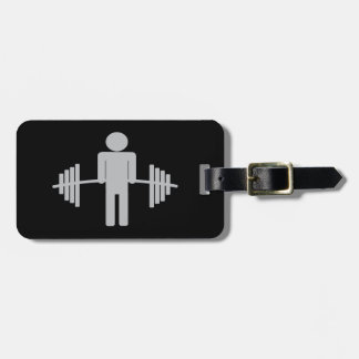 Weightlifting Luggage Tag