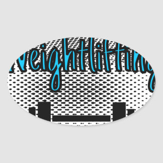 Weightlifting Oval Sticker