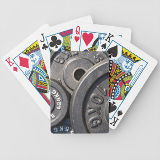 Weightlifting Plates Bicycle Playing Cards