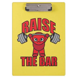Weightlifting - Raise The Bar - Kawaii Motivation Clipboard
