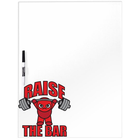 Weightlifting - Raise The Bar - Kawaii Motivation Dry-Erase Whiteboard