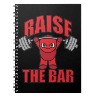Weightlifting - Raise The Bar - Kawaii Motivation Spiral Notebook