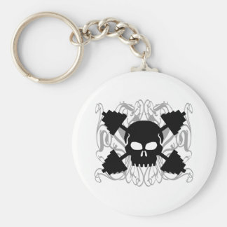 Weightlifting Skull Keychain