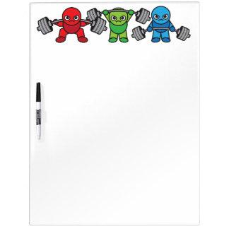 Weightlifting - Squat, Press, Deadlift - Kawaii Dry Erase Board