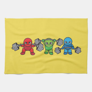 Weightlifting - Squat, Press, Deadlift - Kawaii Kitchen Towel