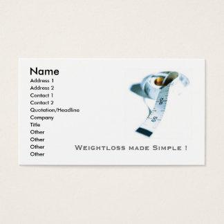 Weightloss business cards