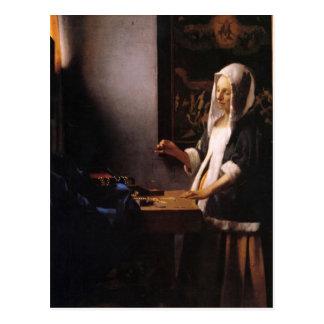 Weights by Johannes Vermeer Postcard