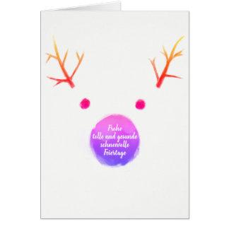 WeihnachtenDognose minimum maps Card