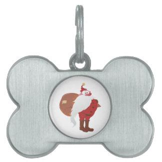 Weihnachtsmann Nikolaus Santa Claus Pet ID Tag