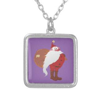 Weihnachtsmann Nikolaus Santa Claus Silver Plated Necklace