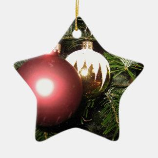 Weihnachtsschmuck Ceramic Star Ornament
