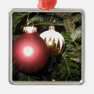 Weihnachtsschmuck Silver-Colored Square Ornament