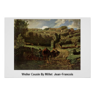 Weiler Cousin By Millet (Ii) Jean-Francois Posters