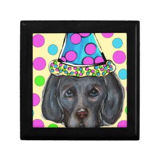 Weim Party Dog Gift Box